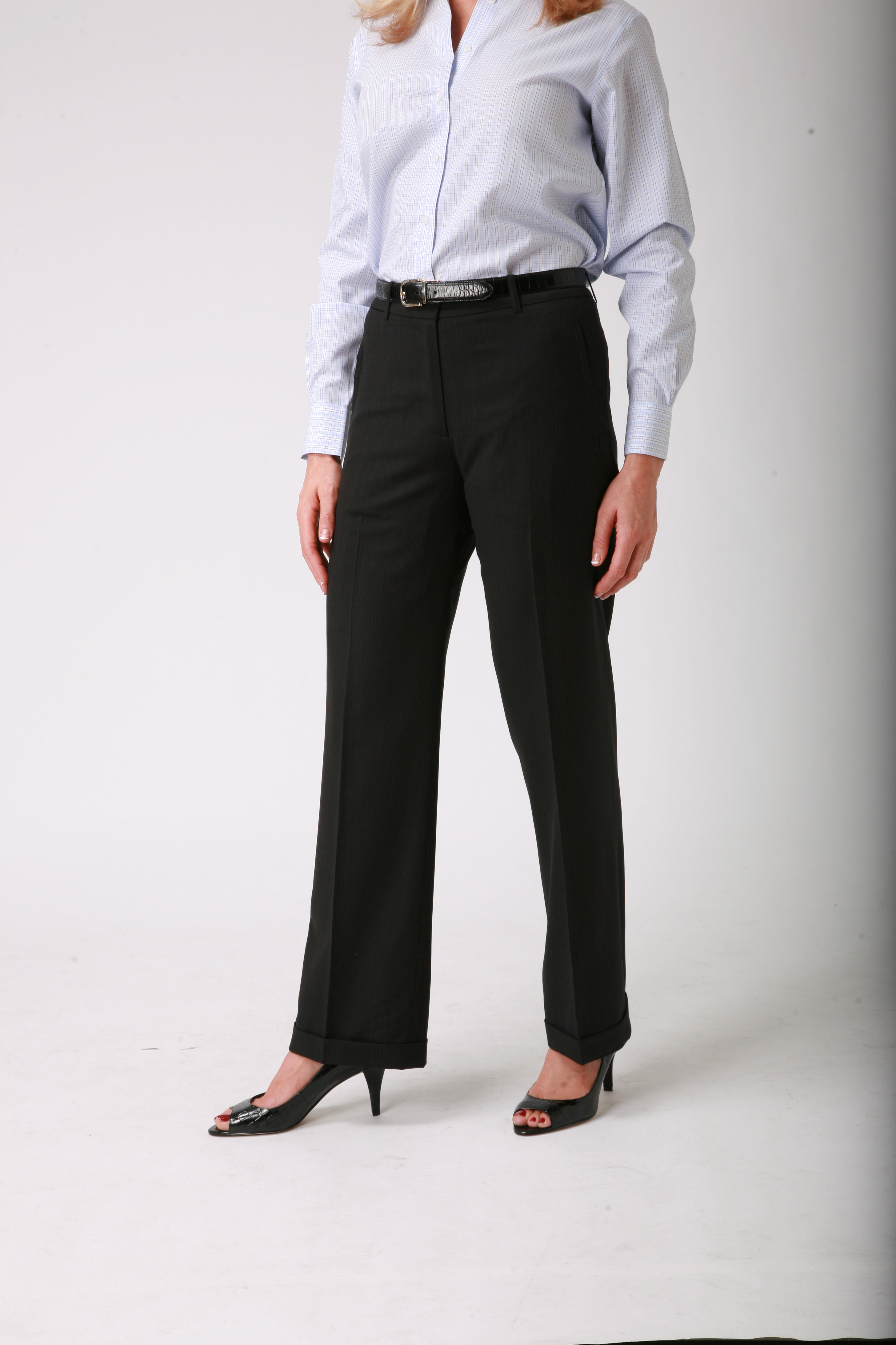 Women's Black Wool Pants : Womens Dress Pants : Pencil ...